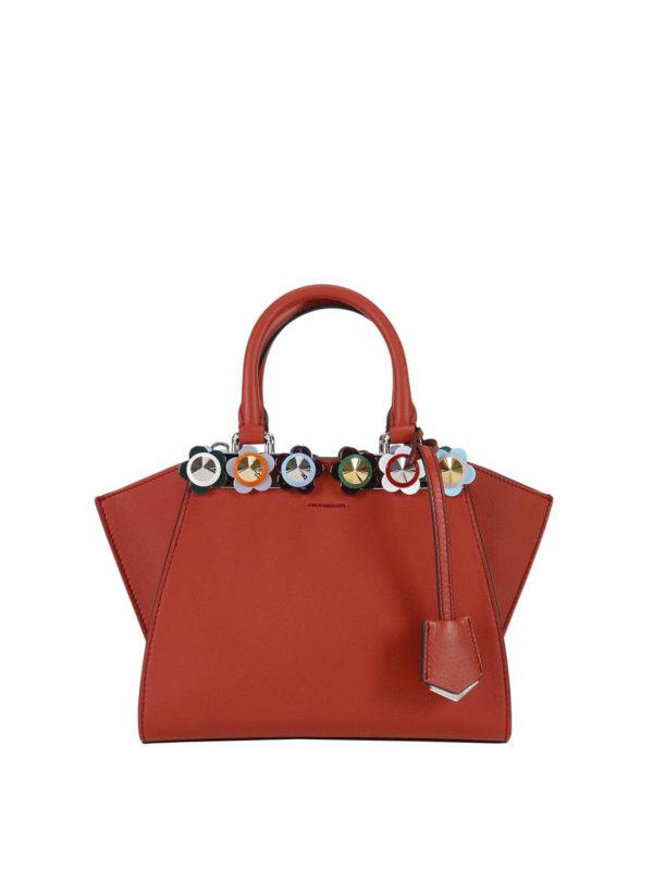Fendi: Handtaschen - Shopper - Rot