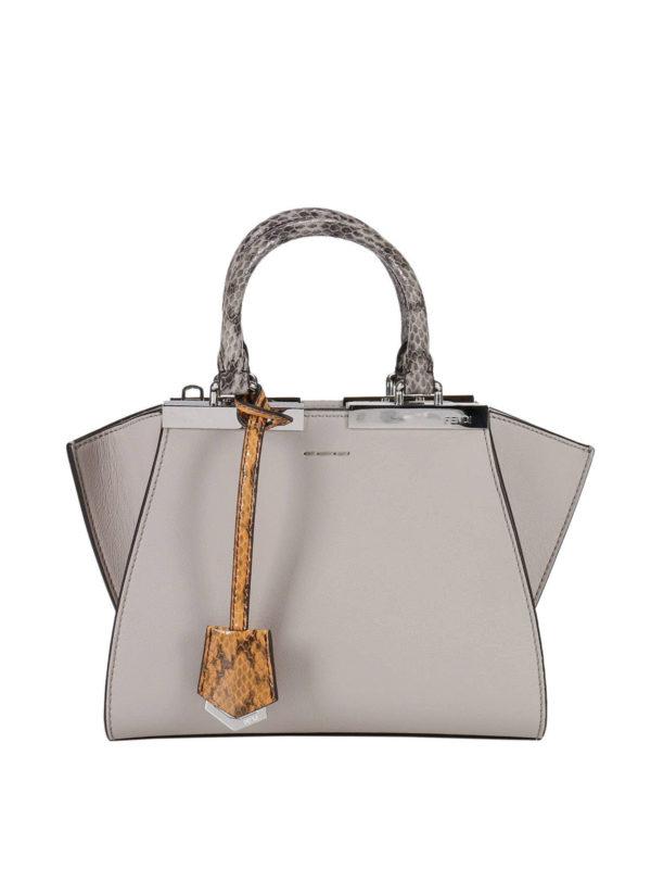 FENDI: Handtaschen - Shopper - Hellgrau