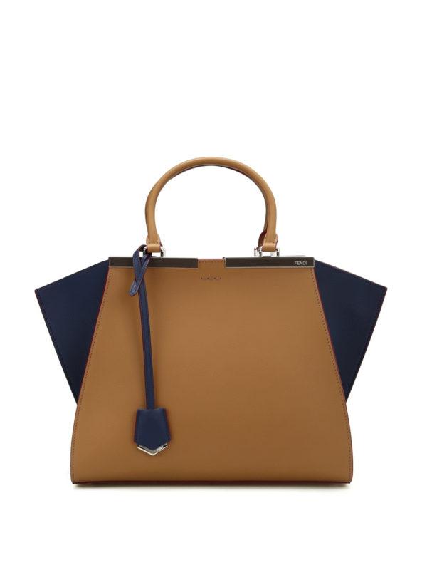 Fendi: Handtaschen - Shopper - Dunkelbeige