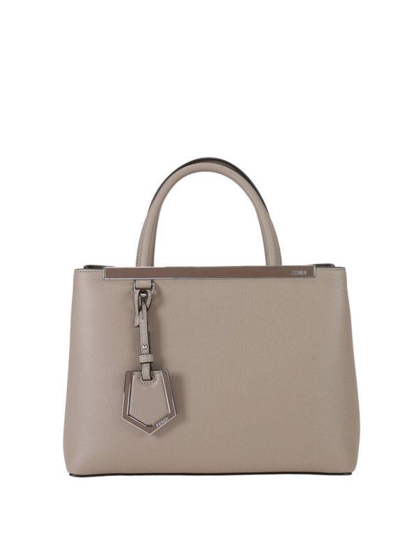 Fendi: Handtaschen - Shopper - Grau
