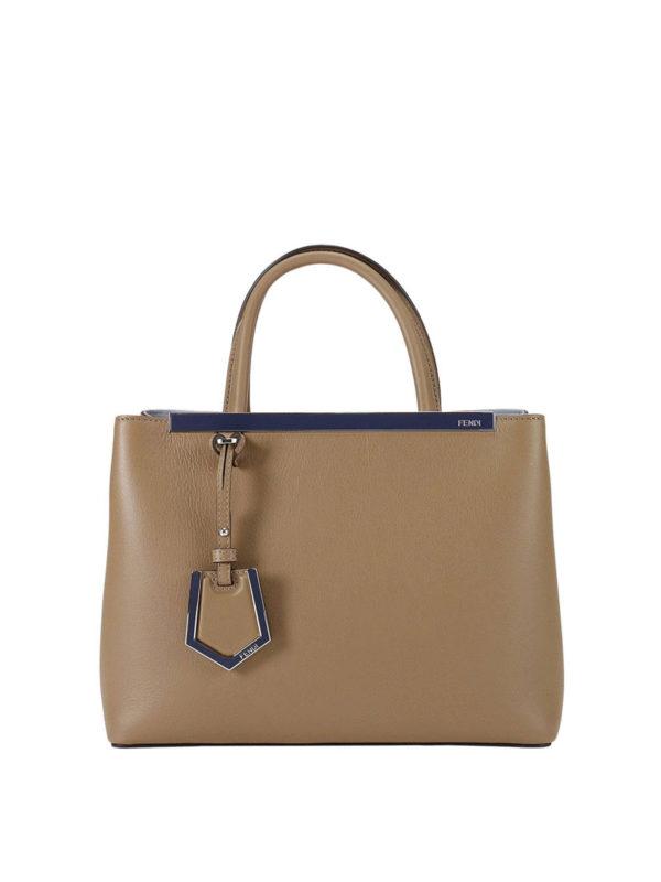 Fendi: Handtaschen - Shopper - Beige