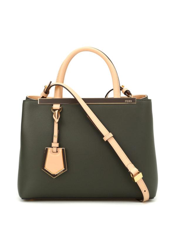 FENDI: Handtaschen - Shopper - Grün