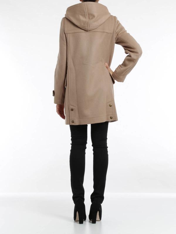 Finsdale wool duffle coat shop online: Burberry Brit