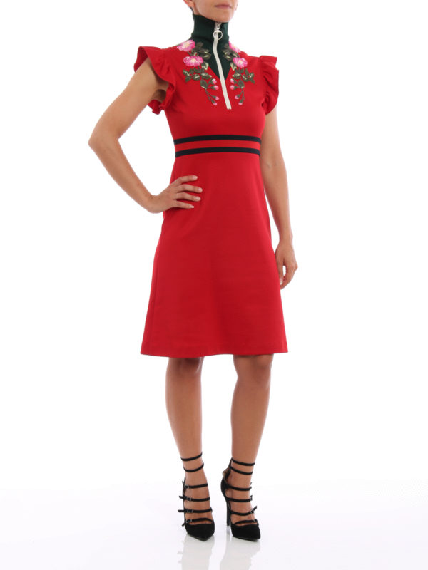 Knielanges Kleid - Rot shop online: Gucci