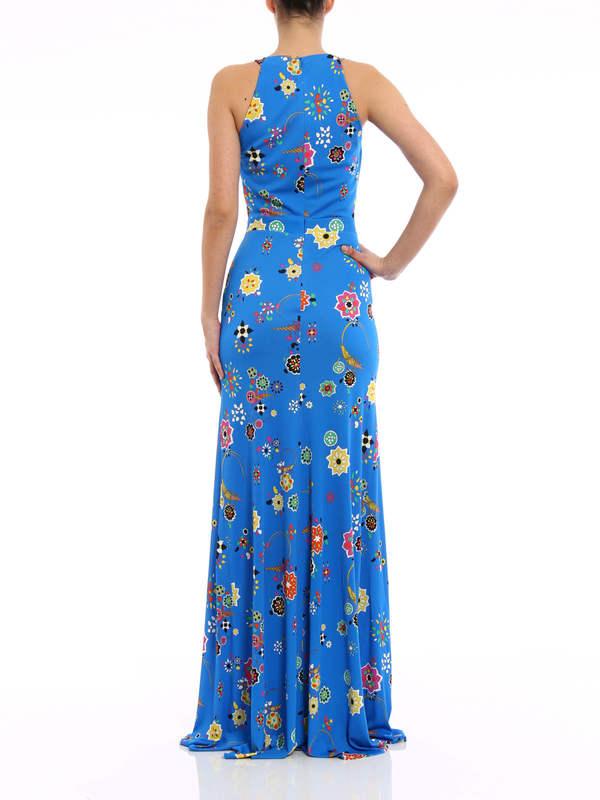 Floral print maxi dress shop online: Emilio Pucci