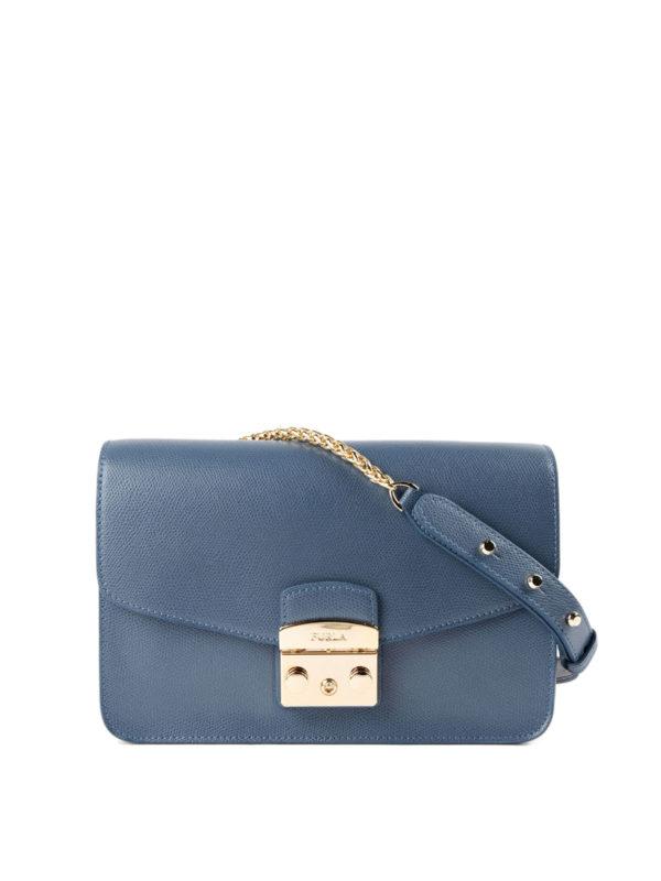Furla: Schultertaschen - Schultertasche - Blau