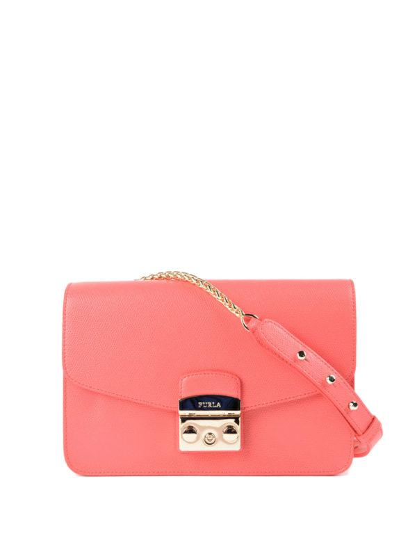 Furla: Schultertaschen - Schultertasche - Pink