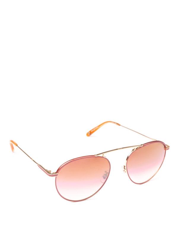 GARRETT LEIGHT: Sonnenbrillen - Sonnenbrille - Dunkelrosa
