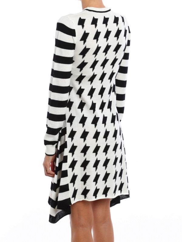 Geometric pattern wool skirt shop online: M.S.G.M.