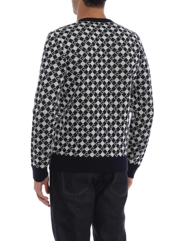 V-Pullover - Dunkelblau shop online: GUCCI