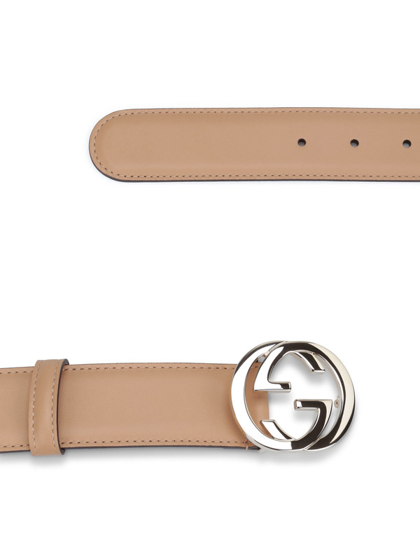 GG buckle leather belt shop online: Gucci