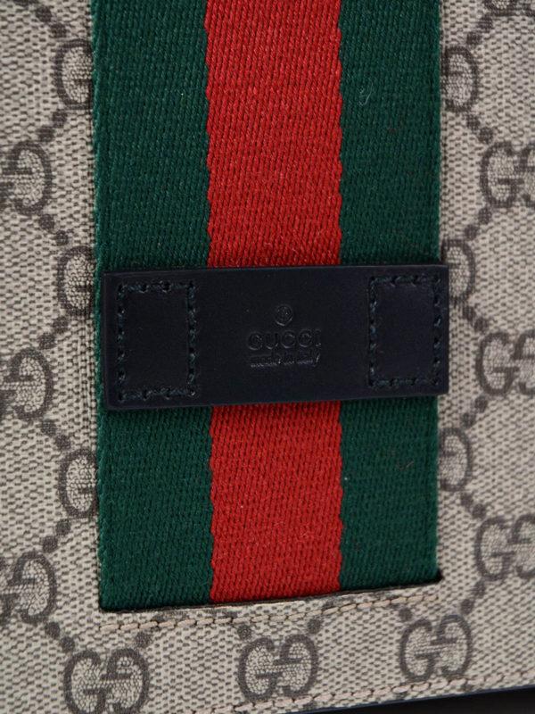 GG Supreme Web fold over bag shop online: Gucci