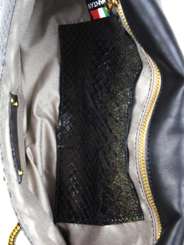 Ghibli buy online Python leather clutch with Swarovski crystals