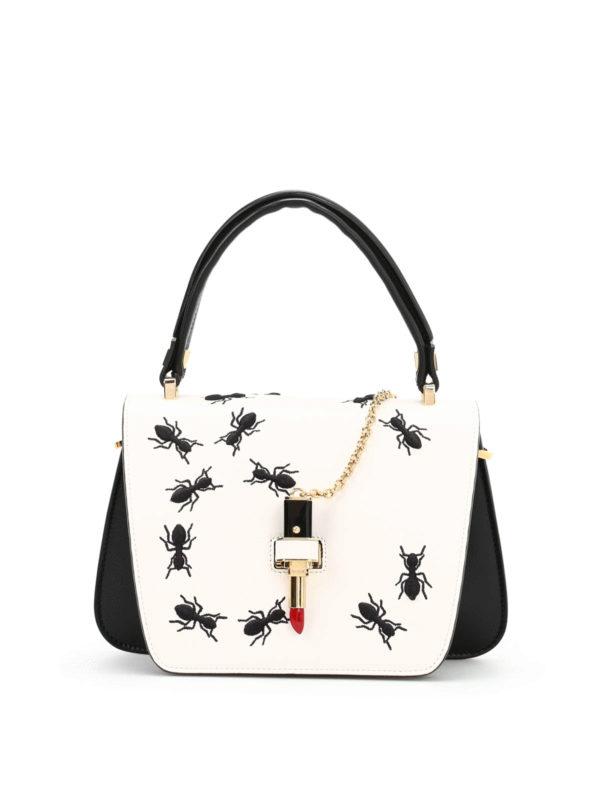 Giancarlo Petriglia Mini Queen Embroidered Bag Cross Body Bags