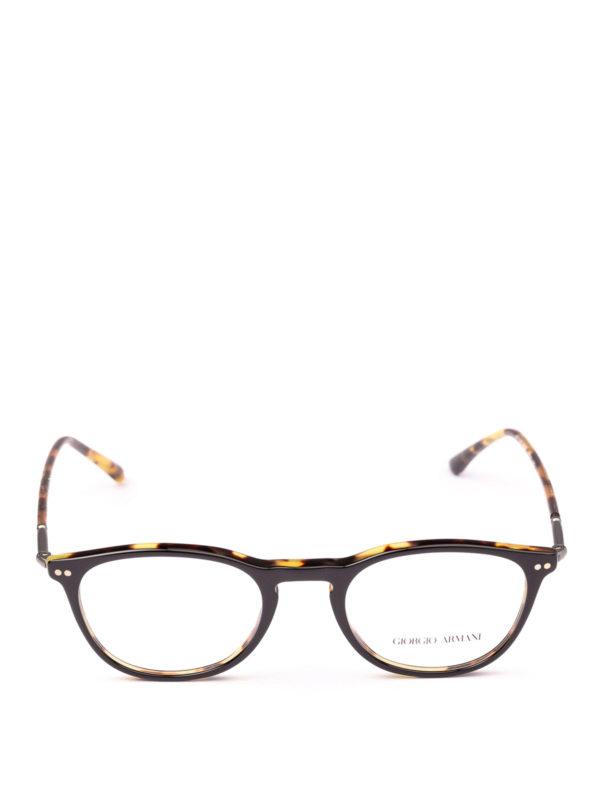 GIORGIO ARMANI: Glasses online - Black and havana panto eyeglasses
