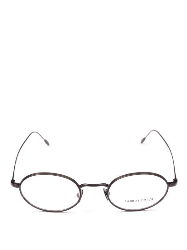GIORGIO ARMANI: Glasses online - Black slender frame oval eyeglasses
