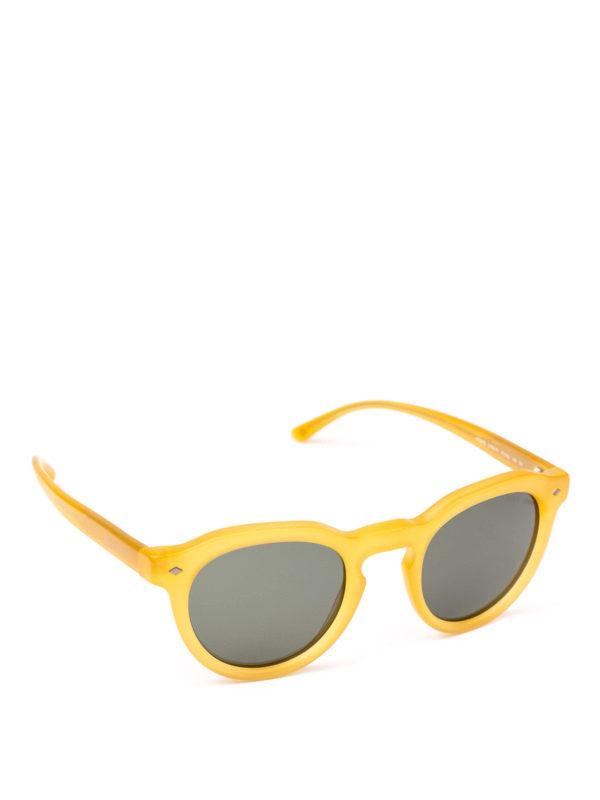 giorgio armani occhiali da sole panto color miele opaco