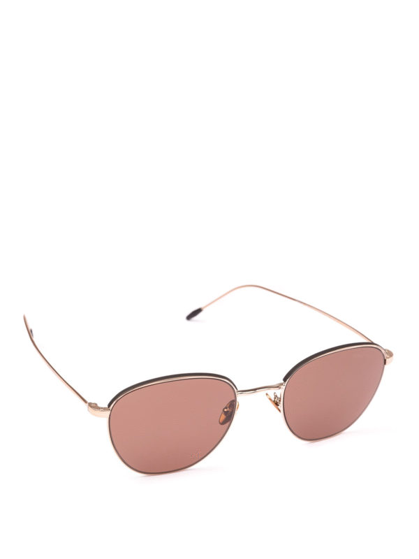 52c43d7b Giorgio Armani - Rose gold metal frame sunglasses ...