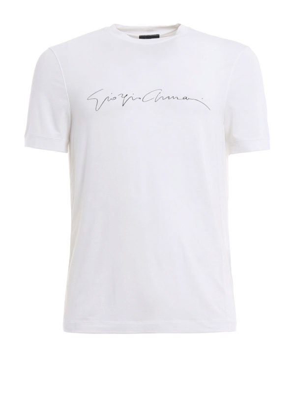 GIORGIO ARMANI: T-shirts - T-Shirt - Einfarbig