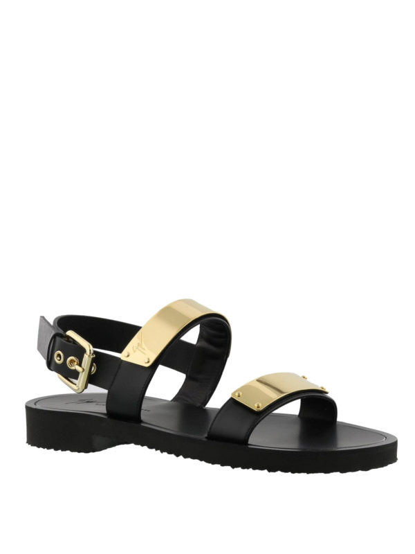 ebf75f1e1a7b Giuseppe Zanotti - Zak black leather sandals - sandals - EU80081002