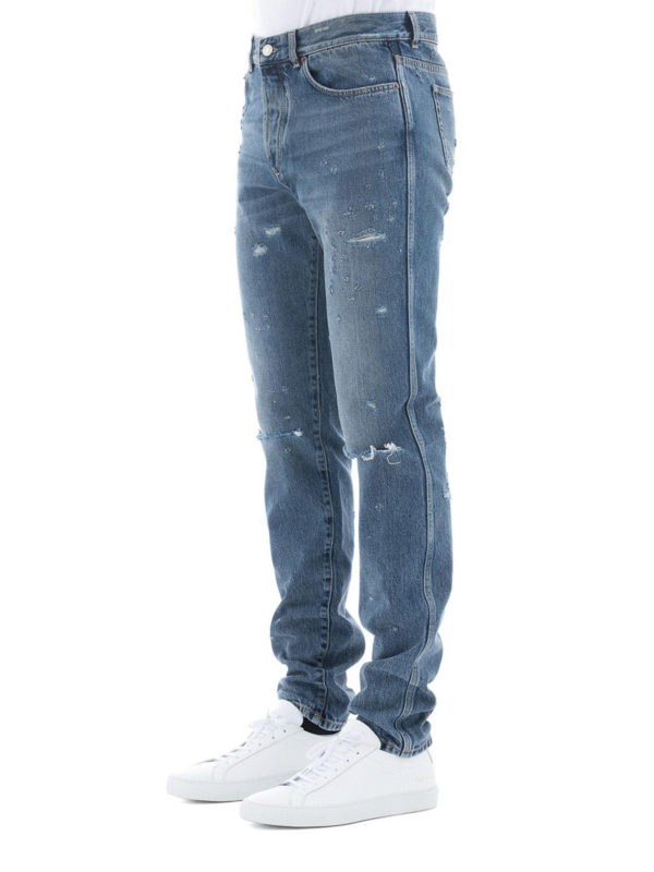 GIVENCHY: Straight Leg Jeans online - Straight Leg Jeans - Slim Fit