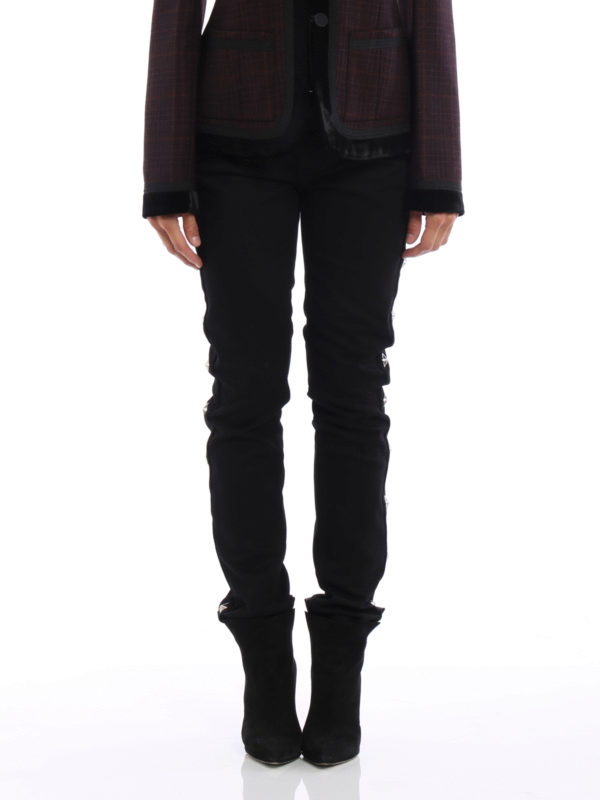 GIVENCHY: Straight Leg Jeans online - Straight Leg Jeans - Einfarbig