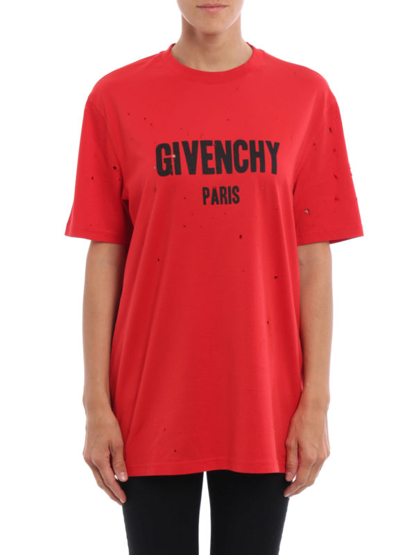 GIVENCHY: T-shirts online - T-Shirt - Rot