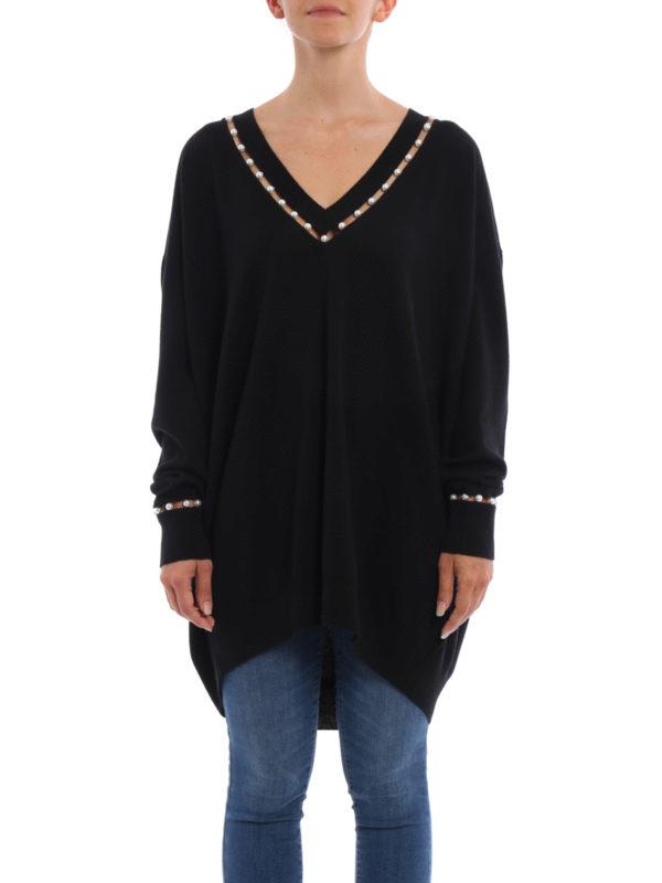 Givenchy: Strickpullover mit V-Ausschnitt online - V-Pullover - Over