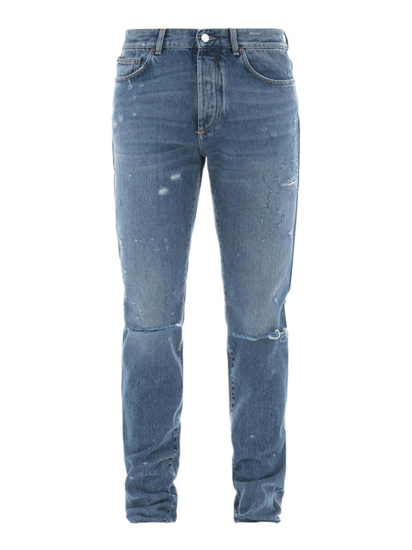 GIVENCHY: Straight Leg Jeans - Straight Leg Jeans - Slim Fit