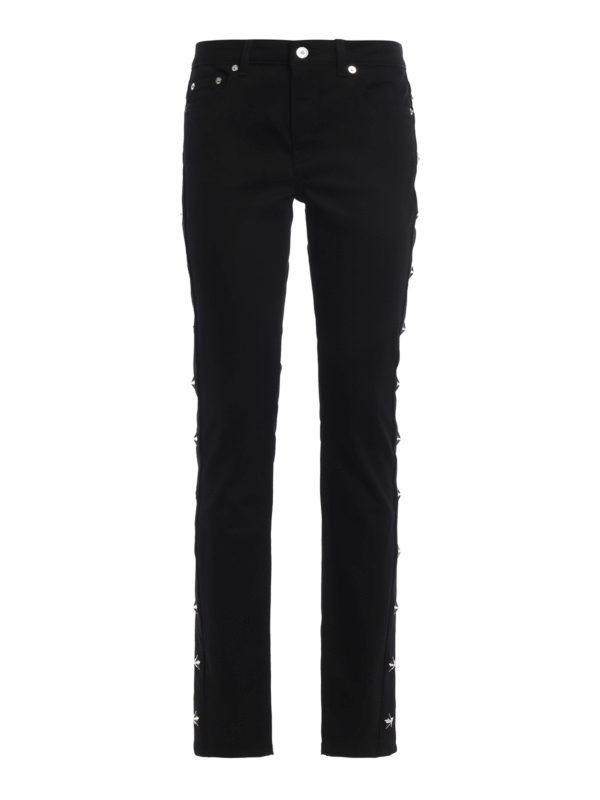 GIVENCHY: Straight Leg Jeans - Straight Leg Jeans - Einfarbig