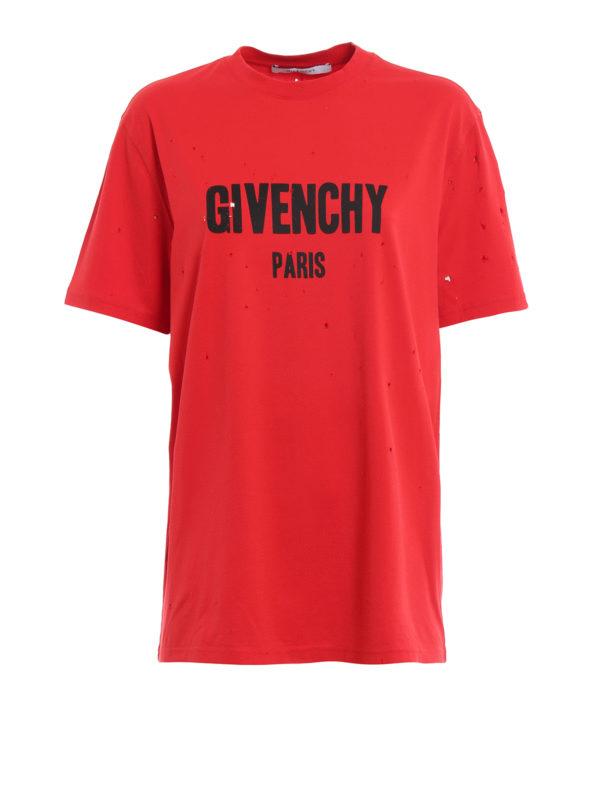 GIVENCHY: T-shirts - T-Shirt - Rot