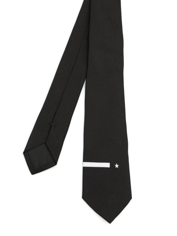 GIVENCHY: ties & bow ties - Star tie
