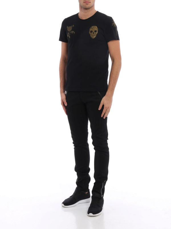 T-Shirt - Gemustert shop online: ALEXANDER MCQUEEN