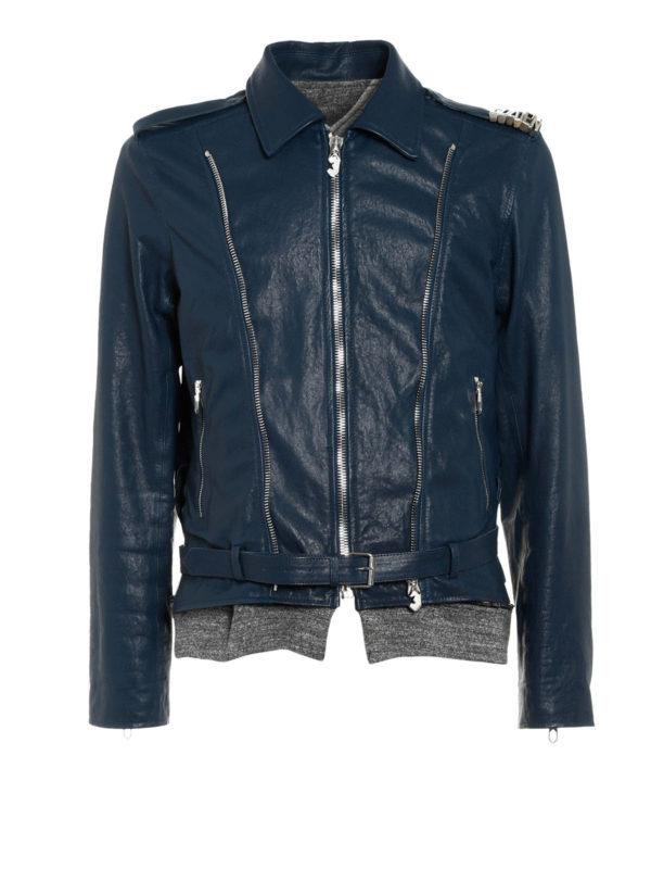 leather biker jacket by golden goose biker jackets ikrix. Black Bedroom Furniture Sets. Home Design Ideas