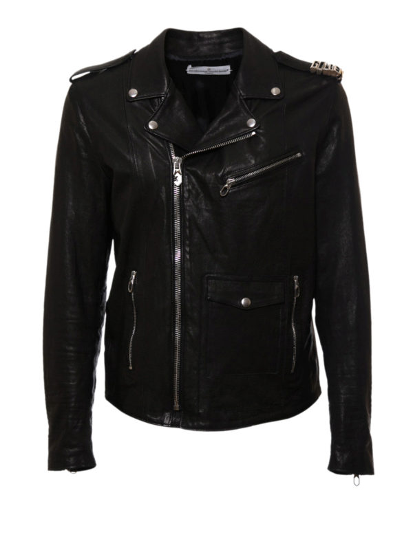 chiodo in pelle golden goose giacche biker ikrix. Black Bedroom Furniture Sets. Home Design Ideas