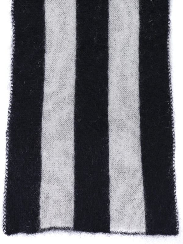 GOLDEN GOOSE: scarves online - Fluffy mohair blend striped scarf