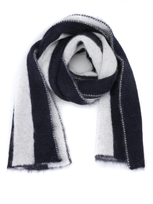 GOLDEN GOOSE: scarves - Fluffy mohair blend striped scarf