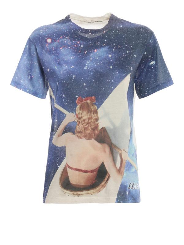 GOLDEN GOOSE: T-shirts - T-Shirt - Hellblau