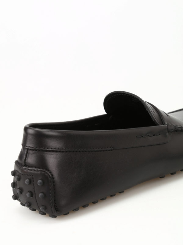 Gommino black leather driving shoes shop online: TOD