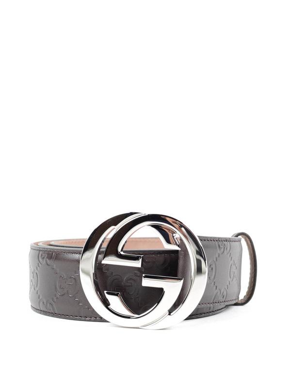 GUCCI: belts - Embossed GG belt