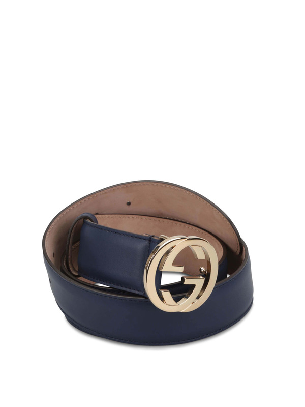Gucci: Gürtel - GG buckle leather belt