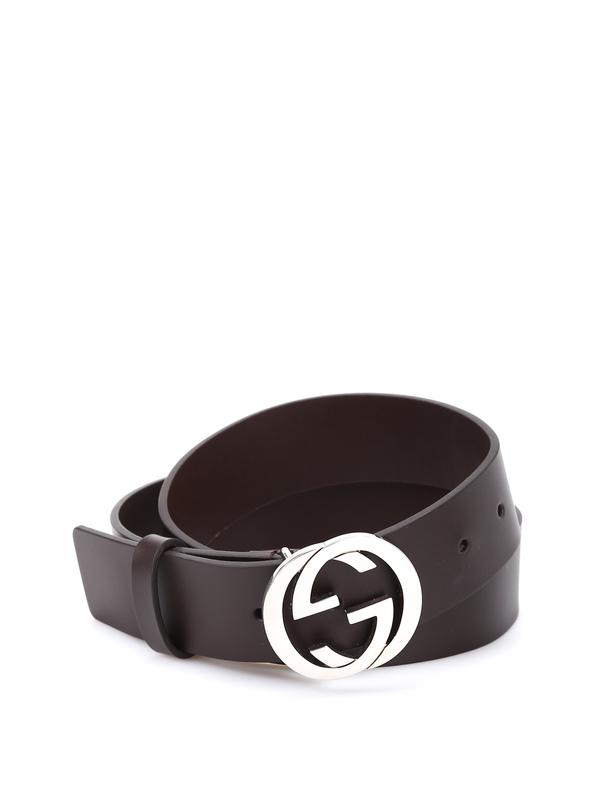 Gucci: belts online - Belt with double G bucke