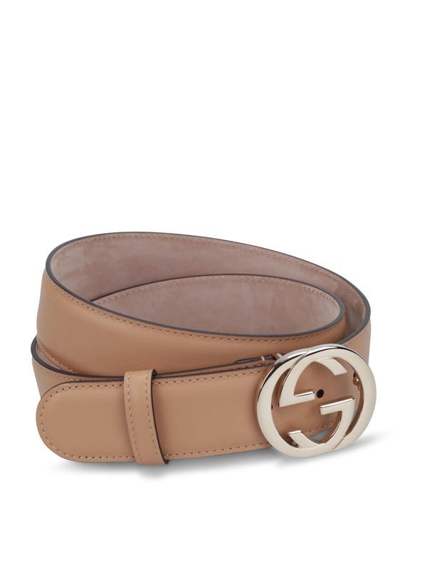 Gucci: Gürtel online - GG buckle leather belt