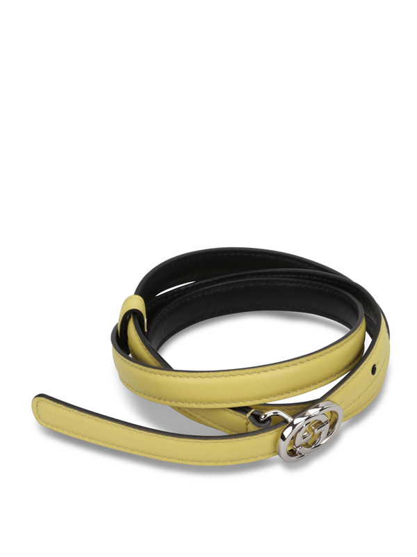 Gucci: belts online - GG buckle leather belt