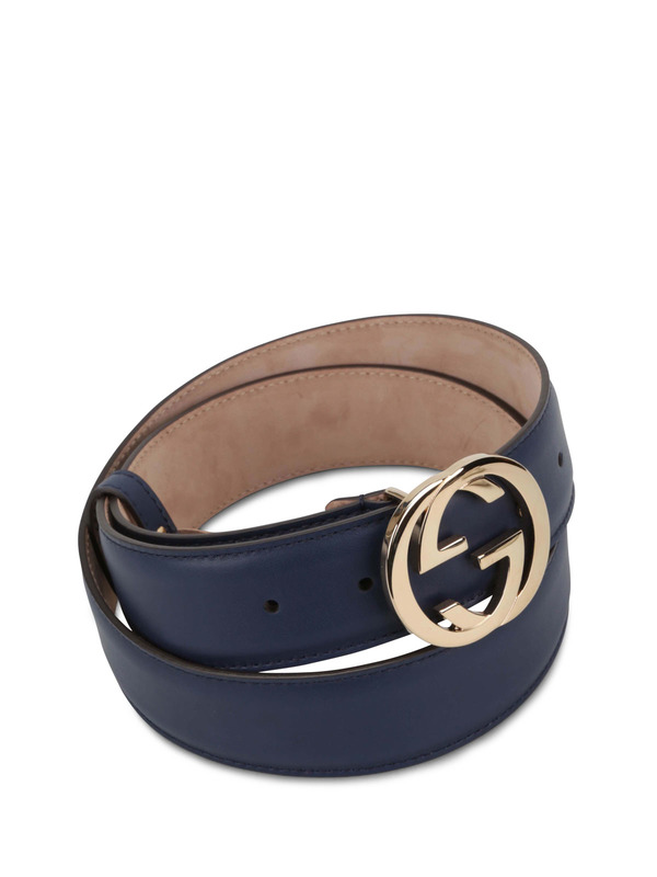 Gucci: Gürtel online - GG buckle leather belt
