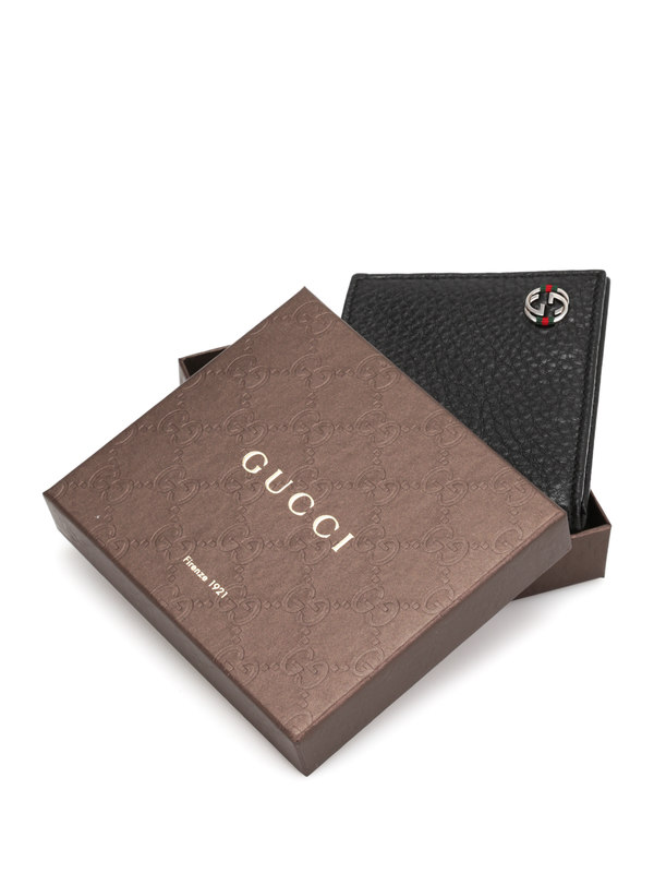 iKRIX GUCCI: Bi-fold leather wallet