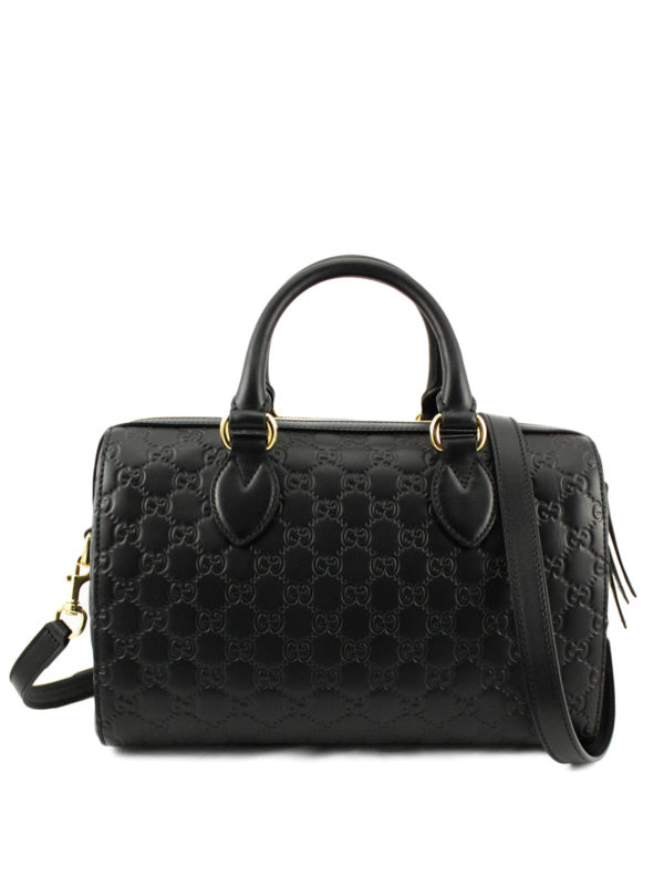 bf2f5d167 Gucci - Gucci Signature leather bowling bag - bowling bags ...