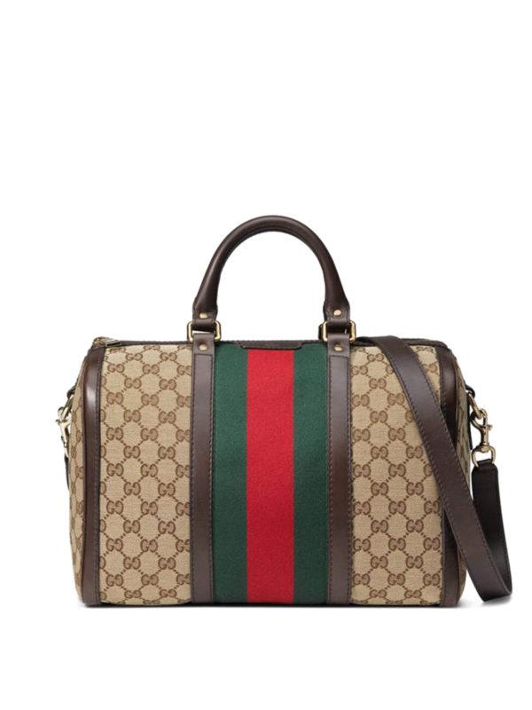 Gucci - Vintage Web Original GG Boston Bag - Bowling Bags - 247205KQW5G9791