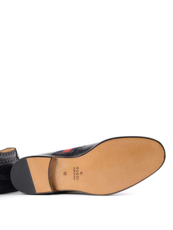 GUCCI buy online Bee Web brushed leather brogues