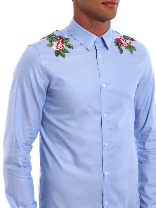 Gucci buy online Duke embroidered cotton shirt